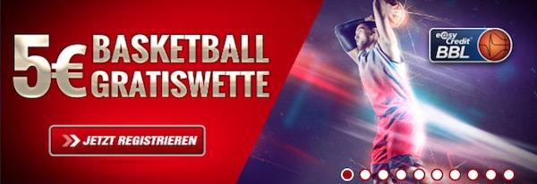 5€ Basketball-Gratiswette bei Tipbet