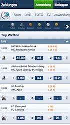 Mobile Wetten bei 1xbet auf der App