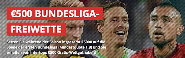 Intertops Freiwette für die Bundesliga
