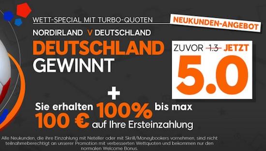 Quoten Special Deutschland Nordirland EM 2016
