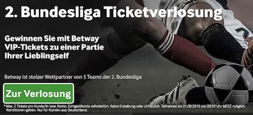 Gewinne Tickets für die 2. Bundesliga bei Betway