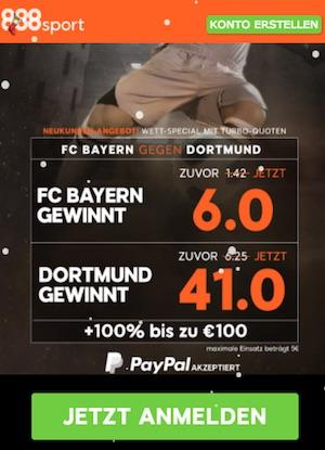 DFB-Pokal Achtelfinale: Erhöhte Quoten zu Bayern vs. Dortmund