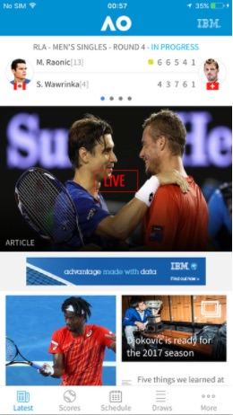 Australian Open Tennis App für Android & iPhone