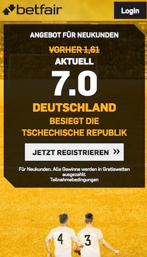 WM-Quali: Top-Quote 7,0 auf Deutschland besiegt Tschechien