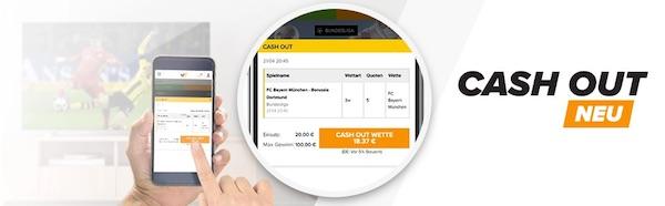 Cash Out Funktion bei Wetten.com