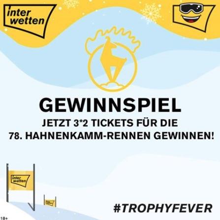 Gewinne bei Interwetten 3*2 VIP-Tickets für die Hahnenkamm Ski-Rennen in Kitzbühel