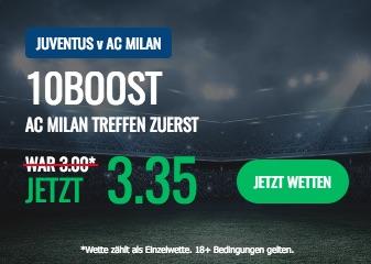 Coppa Italia: 10Bet Boost zu Juventus vs. AC Milan