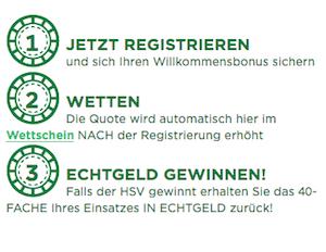 HSV Quotenboost bei Mr Green Anleitung