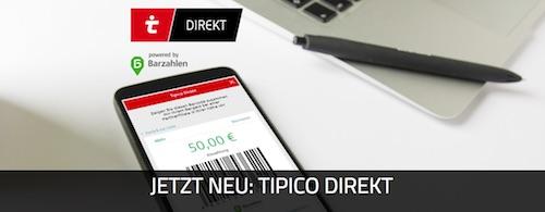Einzahlung via Tipico direkt