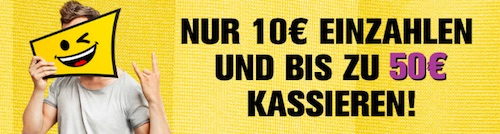 Bis zu 50€ Neukunden-Bonus bei Interwetten