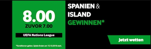 Quotenboost bei Betway zur Nations League