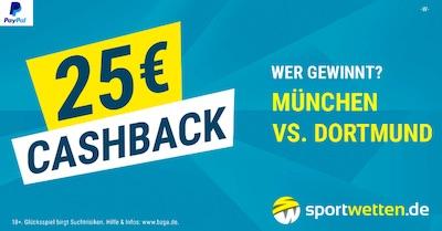 25€Cashback Aktion zu Bayern - BVB