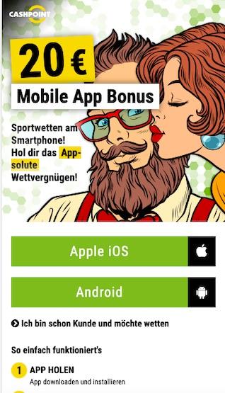 Mobiler Cashpoint Wett-Bonus