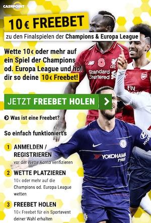 Champions League Finale 10€ Gratiswette