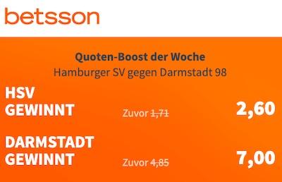 Quotenboost zu HSV - Darmstadt bei Betsson