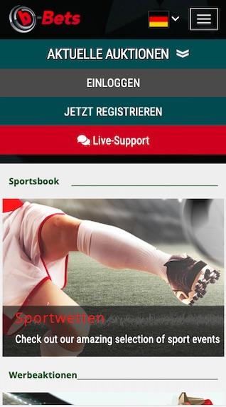 Startseite der b-Bets App