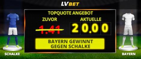 LVBet Quotenboost auf Bayern-Sieg vs. Schalke