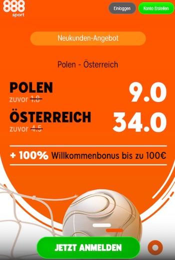 EM-Quali Quotenboost zu Polen - Österreich
