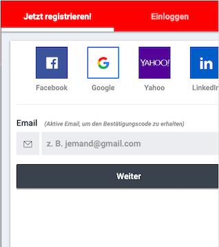 Registrierung bei Betano mobile