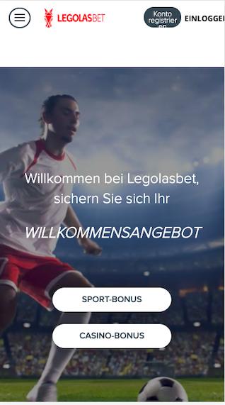Legolas.bet App Startseite