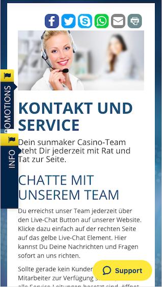 Kontakt und Support bei Sunmaker mobile