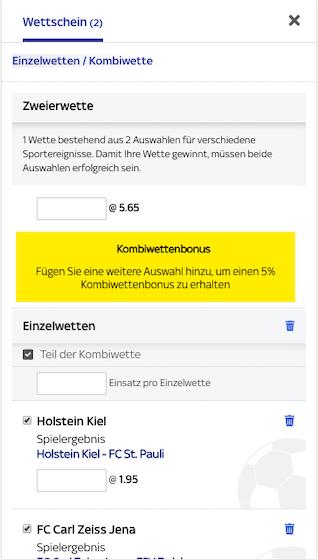 Sky Bet App Wettschein