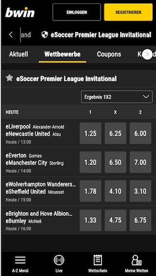 Das Habfinale & Finale der eSoccer Premier League 2020 steht an inkl. Wetten