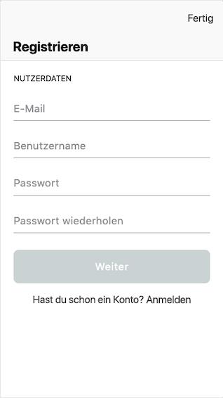Registrierung in der Tipster Wetten App für Android und iPhone