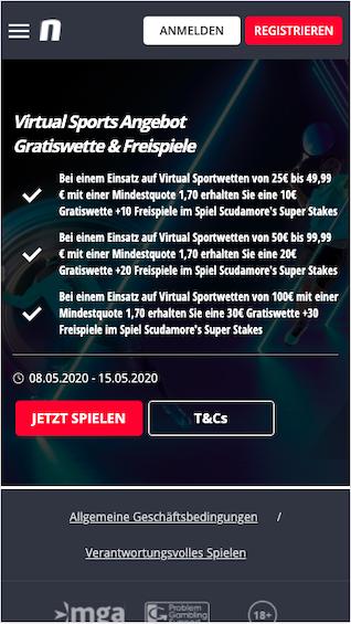 Bis zu 30 Euro Gratiswette in der Novibet App für Android & iOS