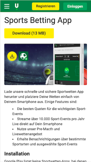 Download Unibet App
