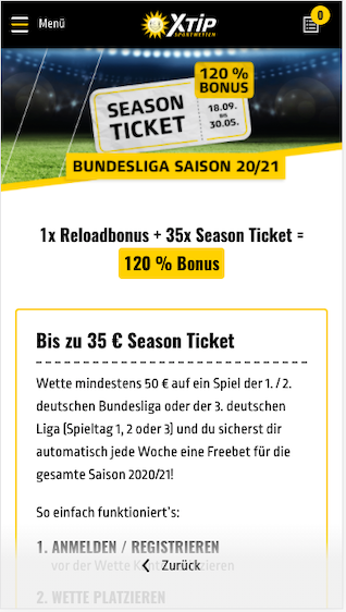 Season Ticket für die deutsche Bundesliga in der XTip App für Android & iPhone