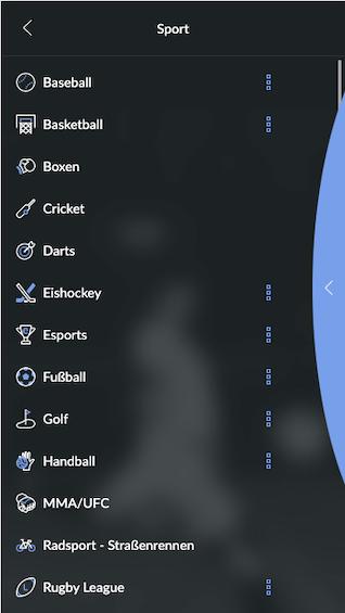 Vollständiges Wettprogramm der BildBet Sportwetten App für Android & iPhone
