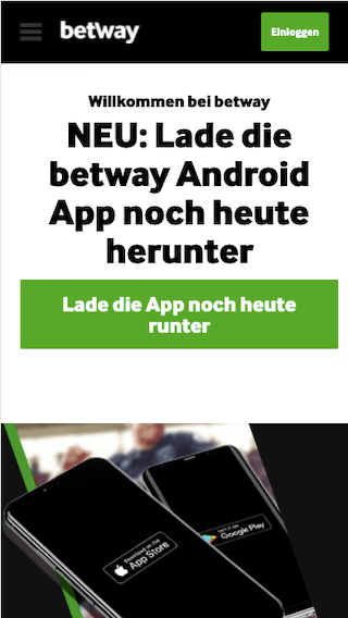 Alle Infos zum Download der Betway App für Android & iPhone
