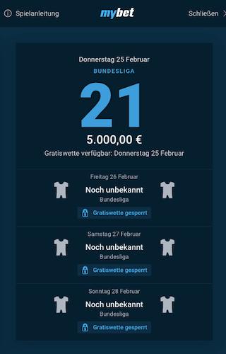 5.000 Euro Wettbewerb mit Freebet in der Mybet App für Android & iPhone