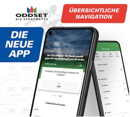 Alle Vorteile der ODDSET Sport App für Android & iPhone